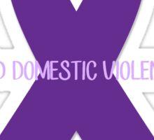 End Domestic Violence Ribbon Sticker