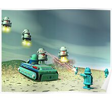 Robot Invasion From Above Poster