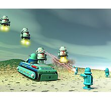 Robot Invasion From Above Photographic Print