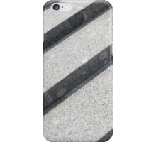 Top view closeup of gray marble step iPhone Case/Skin