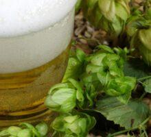 Beer, hops and malt Sticker