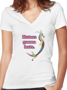 Haters gonna hate Women's Fitted V-Neck T-Shirt