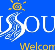 Missouri Welcomes You Road Sign Sticker