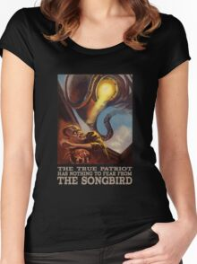 BioShock Infinite – The True Patriot Has Nothing to Fear from the Songbird Women's Fitted Scoop T-Shirt