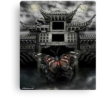THE BUTTERFLY EFFECT (Does the flap of a butterfly's wings in China set off a tornado in Texas) Canvas Print