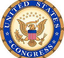 US Congress Seal Sticker by ukedward
