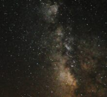 Milky Way Over The Lake Sticker