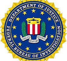FBI Federal Bureau of Investigation Seal Sticker by ukedward