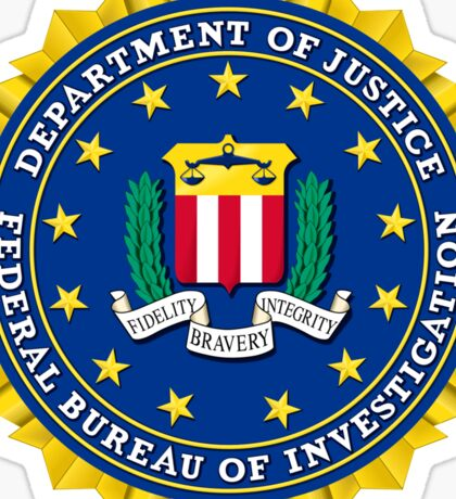 FBI Federal Bureau of Investigation Seal Sticker Sticker
