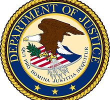 US Department of Justice Seal Sticker by ukedward