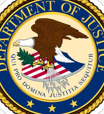US Department of Justice Seal Sticker Sticker