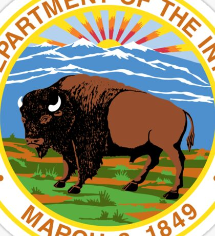 US Department of the Interior Seal Sticker Sticker