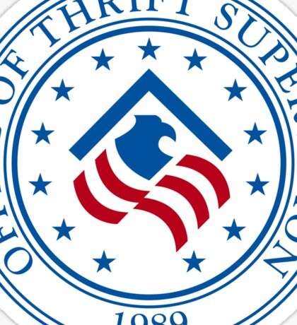 US Thrift Supervision Seal Sticker Sticker