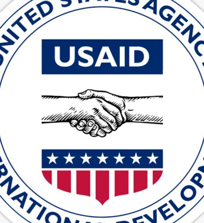 US AID Agency Seal Sticker Sticker