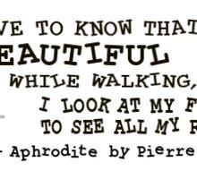 """""""Aphrodite""""  book quote Sticker"""