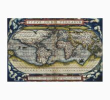World map from the first modern atlas by Ortelius Kids Clothes