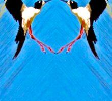 A Circle of Bird Love Sticker