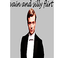 Vain and Silly Flirt (Black Text) Photographic Print