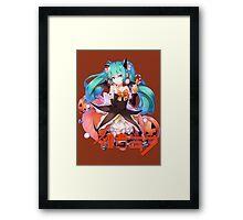 Halloween - Hatsune Miku (Vocaloid) Framed Print