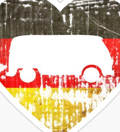 I Heart VW Campers Sticker
