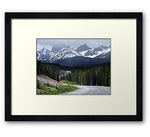On Spray Lake Trail Framed Print