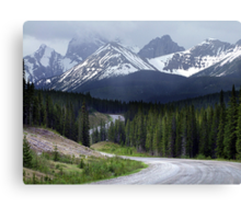 On Spray Lake Trail Canvas Print