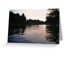 mulberry river low light Greeting Card