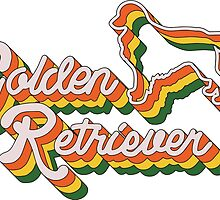 Retro Golden Retriever by Hannah Ptak