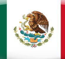 Mexico Flag Glass Oval Die Cut Sticker Sticker