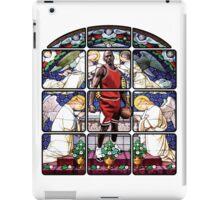 Michael Jordan w/ church glass stained windows iPad Case/Skin