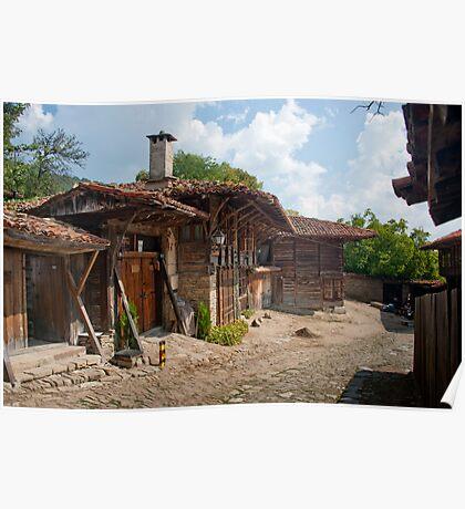 Village Blue Mountains Bulgaria Poster