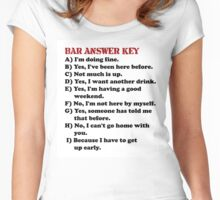Humor Series/Bar Answer Key Women's Fitted Scoop T-Shirt
