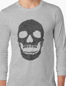 Scribble Skull Long Sleeve T-Shirt