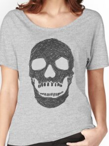 Scribble Skull Women's Relaxed Fit T-Shirt