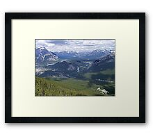 Banff and The Bow River Valley Framed Print