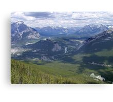 Banff and The Bow River Valley Canvas Print