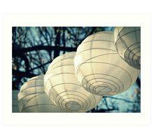 White Lanterns Art Print