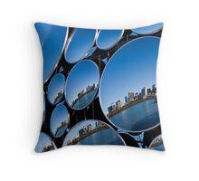 Golden Casket Light Sphere, Brisbane CBD reflection. Throw Pillow