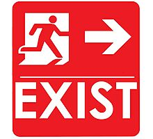 """EXIST"" Existential Signage - STICKER RED Photographic Print"