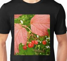 Red leaves and Berries Unisex T-Shirt
