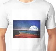Moon over Tolcarne Beach Unisex T-Shirt