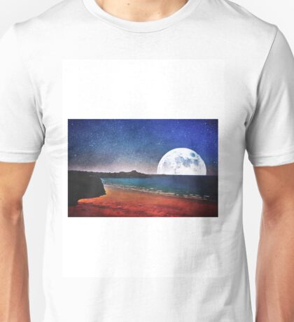 Moon over Tolcarne Beach T-Shirt