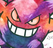 """""""King of Ghosts"""". Pokemon """"Gengar"""" from the videogame Pokémon by Nintendo.  Sticker"""