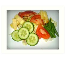 My Vegetarian Lunch Art Print