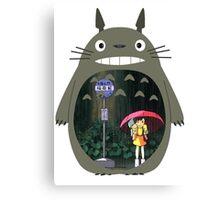 My Neighbour Totoro - Rain Canvas Print