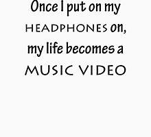 Headphones Music Video Unisex T-Shirt