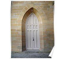 Door, Christ Church, Longford Poster