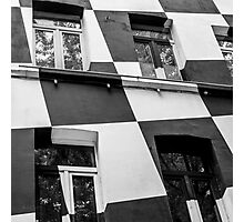 Checkerboard Facade Photographic Print