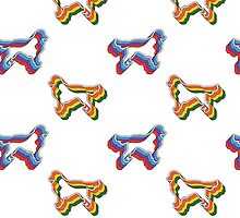 Retro Golden Retriever Pattern by Hannah Ptak