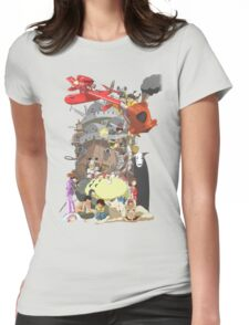 Studio Ghibli Characters Womens Fitted T-Shirt